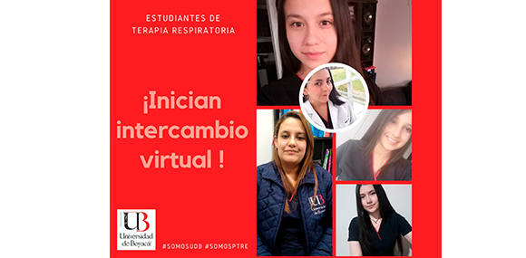 Estudiantes de Terapia Respiratoria inician intercambio virtual con la Universidad de Santander
